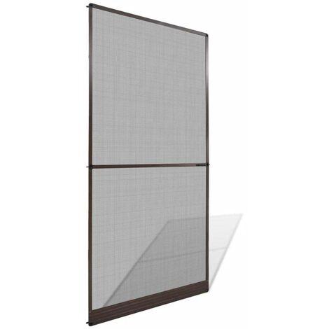 Hommoo Mosquitera con bisagras para puertas marrón 120x240 cm