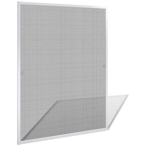 Hommoo Mosquitera para ventana blanca 100x120 cm
