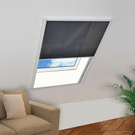 Hommoo Mosquitera plisada para ventana 160 x 110 cm