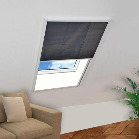 Hommoo Mosquitera plisada para ventanas aluminio 60x80cm