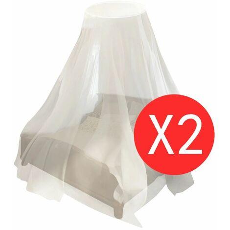 Hommoo Mosquito Net 2 pcs Round 56x325x230 cm QAH30349