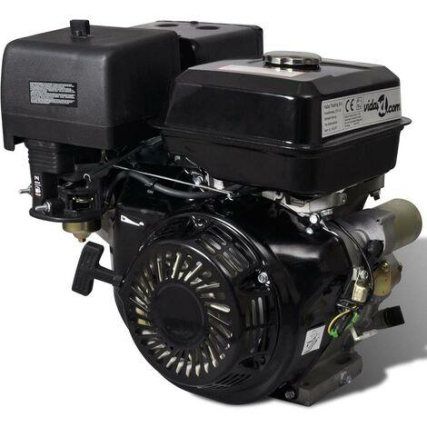 Hommoo Motor de gasolina 15 HP 9,6 kW negro