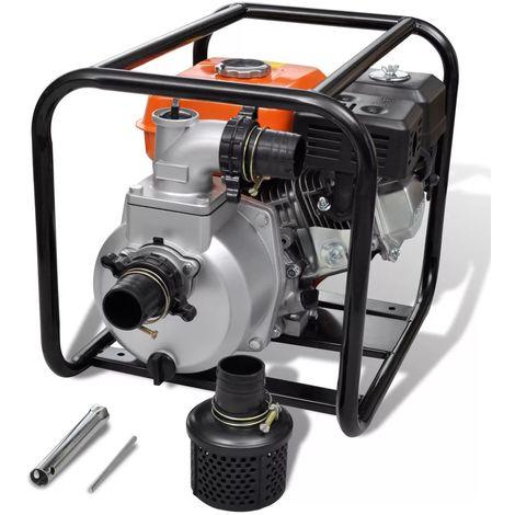Hommoo Motor de gasolina bomba de agua 50 mm conexión 5,5 HP