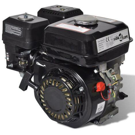 Hommoo Motor de gasolina negro de 6,5 HP y 4,8 kW