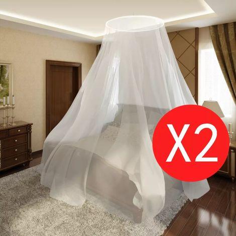 Hommoo Moustiquaire 2 pcs Rond 56x325x230 cm