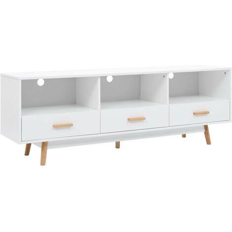 Hommoo Mueble para la televisión MDF 160x40x55 cm blanco