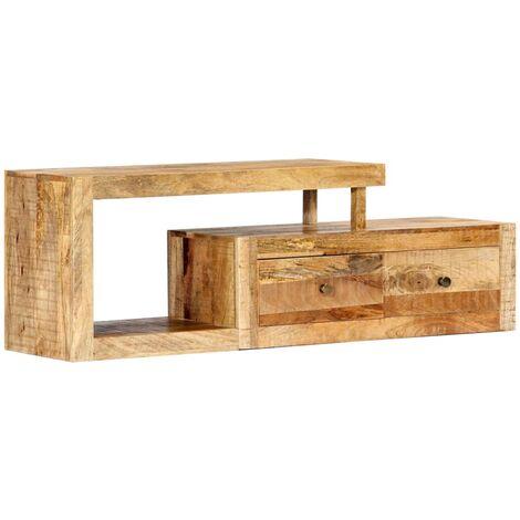 Hommoo Mueble para TV 120x30x40 cm madera maciza de mango