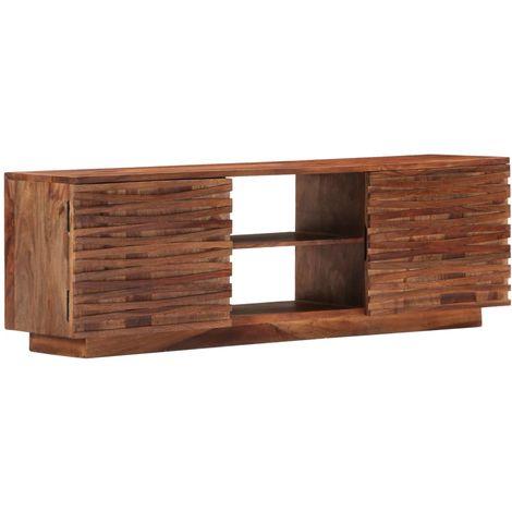 Hommoo Mueble para TV 120x30x40 cm madera maciza de sheesham