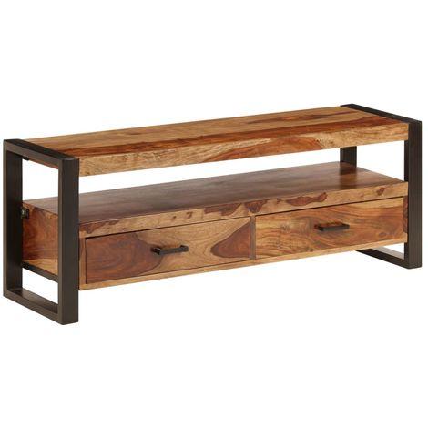 Hommoo Mueble para TV 120x35x45 cm madera maciza de sheesham