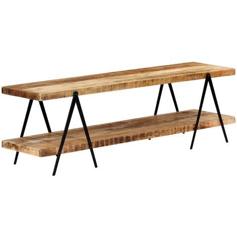 Hommoo Mueble para TV de madera maciza de mango 160x40x50 cm