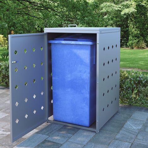 Hommoo Mülltonnenbox für 1 Tonne 240 L Edelstahl DDH06510