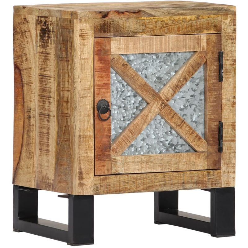 Nachttisch 40 x 30 x 50 cm Mangoholz Massiv VD23845 - Hommoo