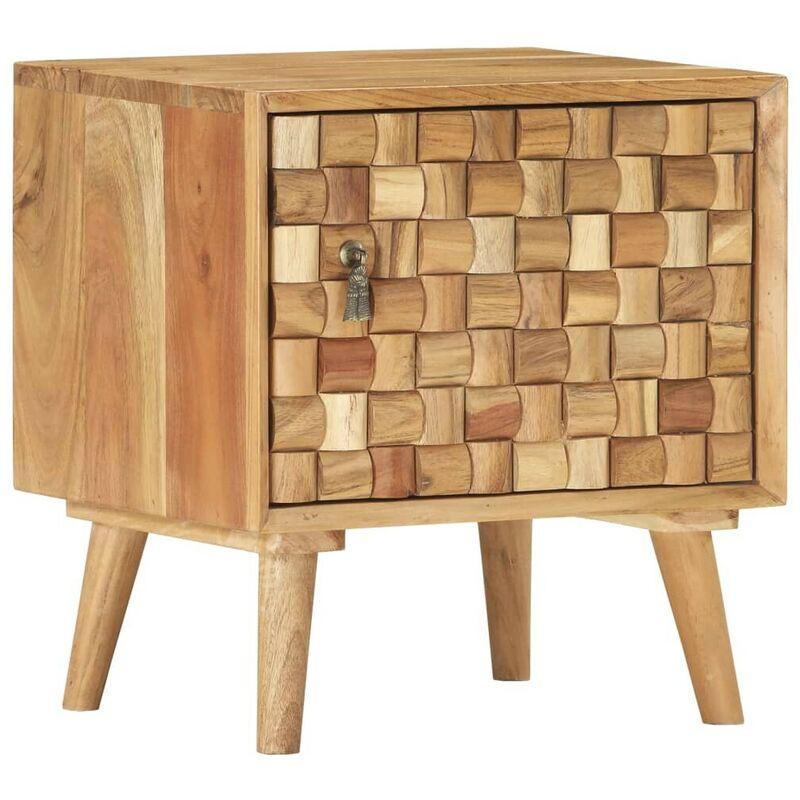 Nachttisch 42x35x45 cm Akazie Massivholz VD37364 - Hommoo