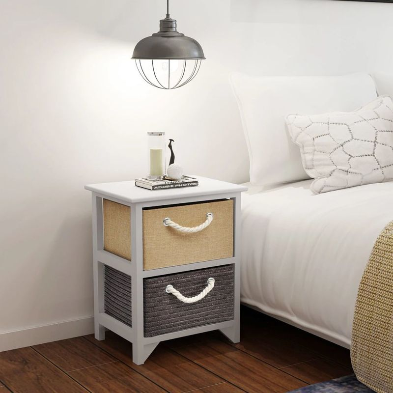 Nachttisch Holz 2 Stk VD09503 - Hommoo