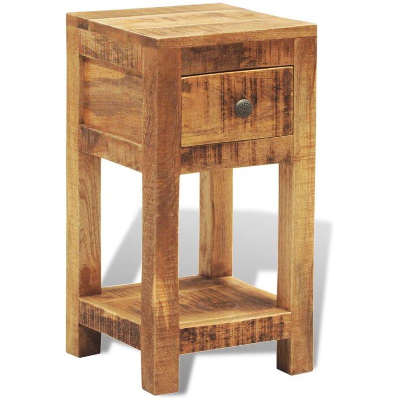 Nachttisch mit 1 Schublade Mango Massivholz VD08530 - Hommoo