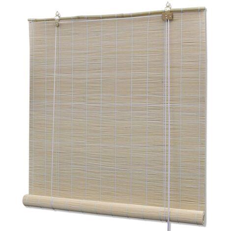 Hommoo Natural Bamboo Roller Blinds 2 pcs 120x160 cm QAH21063