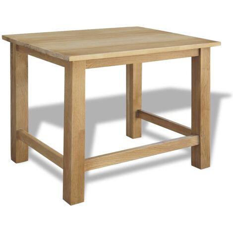 Hommoo Nesting Tables 3 pcs Solid Oak Wood QAH09677