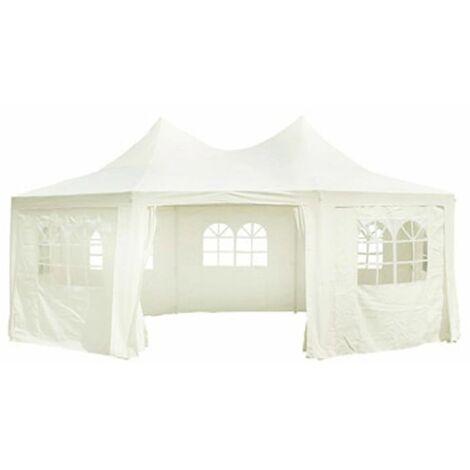 Hommoo Octagonal Party Tent White 6 x 4.4 x 3.5 m QAH06771