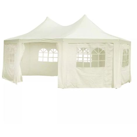 Hommoo Octagonal Party Tent White 6 x 4.4 x 3.5 m VD06771