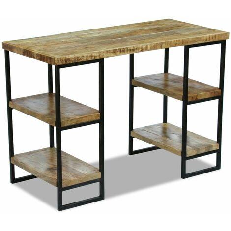 Hommoo Office Desk Mango Wood 110x50x76 cm QAH09741