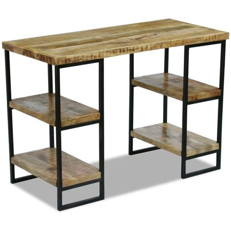 Hommoo Office Desk Mango Wood 110x50x76 cm VD09741
