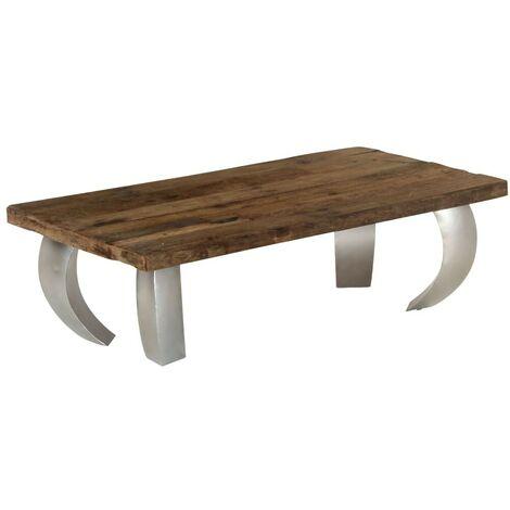 "main image of ""Hommoo Opium Coffee Table Sleeper Wood and Steel 110x60x35 cm VD12227"""