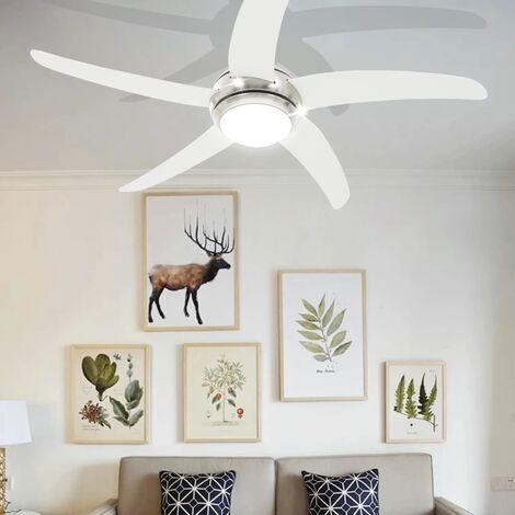 Hommoo Ornate Ceiling Fan with Light 128 cm White QAH30445