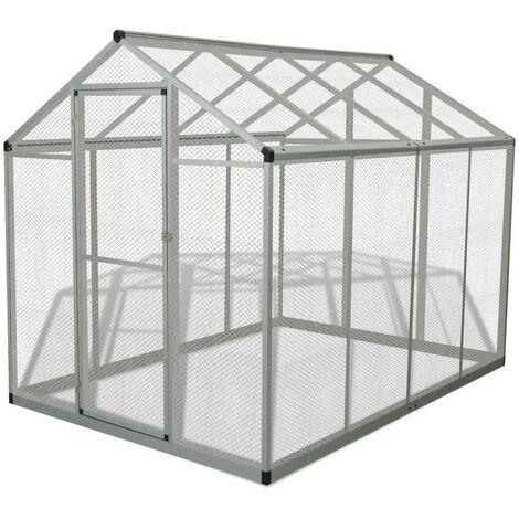 Hommoo Outdoor Aviary Aluminium 178x242x192 cm