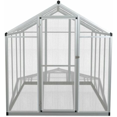 Hommoo Outdoor Aviary Aluminium 178x242x192 cm QAH06963