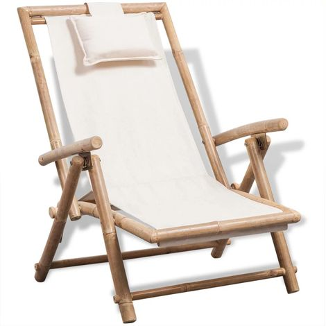 Hommoo Outdoor Deck Chair Bamboo