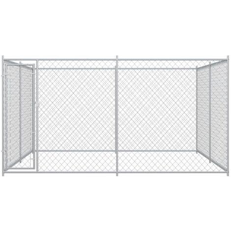 Hommoo Outdoor Dog Kennel 4x4x2 m QAH06397