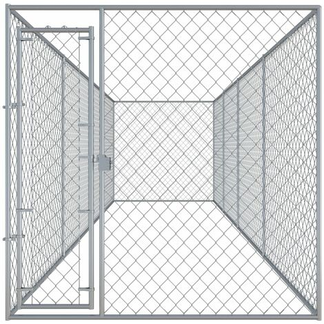Hommoo Outdoor Dog Kennel 7.6x1.9x2 m QAH06399