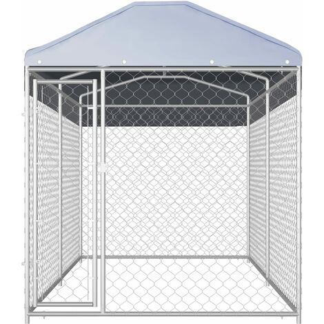 Hommoo Outdoor Dog Kennel with Canopy Top 382x192x235 cm QAH06396