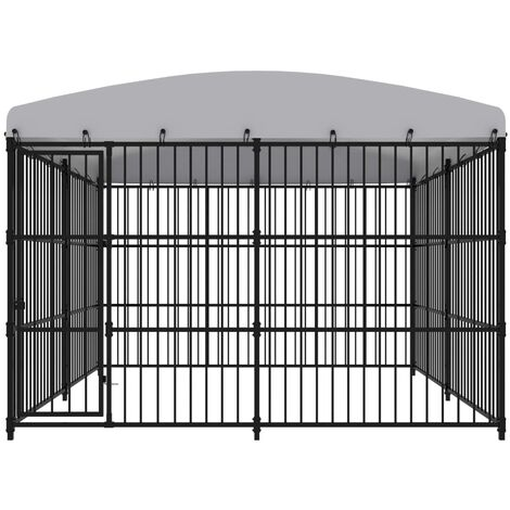 Hommoo Outdoor Dog Kennel with Roof 300x300x210 cm QAH07341