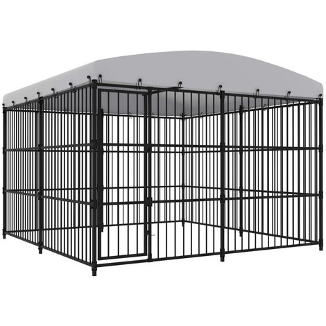 Hommoo Outdoor Dog Kennel with Roof 300x300x210 cm VD07341