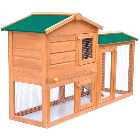 Hommoo Outdoor Large Rabbit Hutch Small Animal House Pet Cage Wood QAH06900