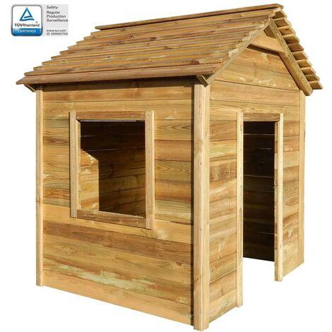 Hommoo Outdoor Playhouse 123x120x146 cm FSC Pinewood VD29085