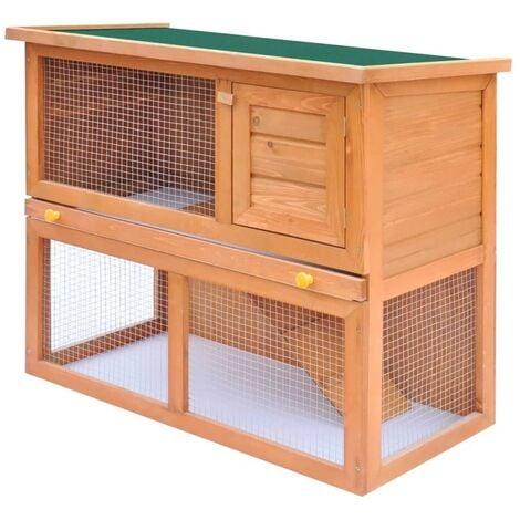 Hommoo Outdoor Rabbit Hutch Small Animal House Pet Cage 1 Door Wood VD06896