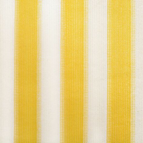 Hommoo Outdoor Roller Blind 100x140 cm Yellow and White Stripe QAH27869