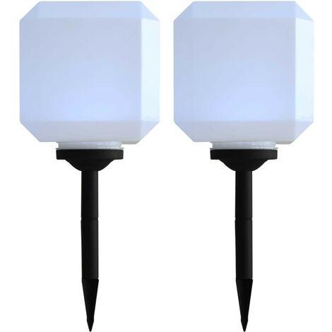 2 Stck XL LED Solarleuchte Gartenleuchte Solar Wegeleuchte Okul 73,2 cm x 15 cm