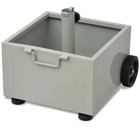 Hommoo Outdoor Umbrella Stand Plant Pot Grey QAH26298