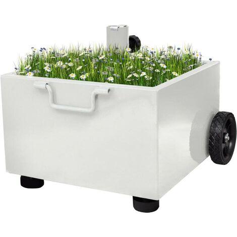 Hommoo Outdoor Umbrella Stand Plant Pot White