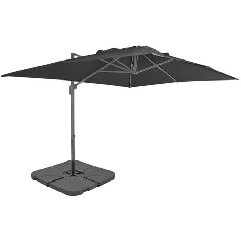 Hommoo Outdoor Umbrella with Portable Base Anthracite