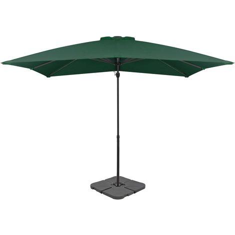 Hommoo Outdoor Umbrella with Portable Base Green