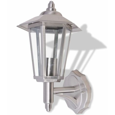 Hommoo Outdoor Uplight Wall Lantern Stainless Steel QAH26867