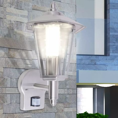 Hommoo Outdoor Uplight Wall Lantern with Sensor Stainless Steel VD26868