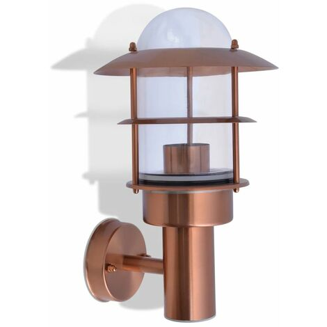 Hommoo Outdoor Wall Light Stainless Steel Copper QAH26876
