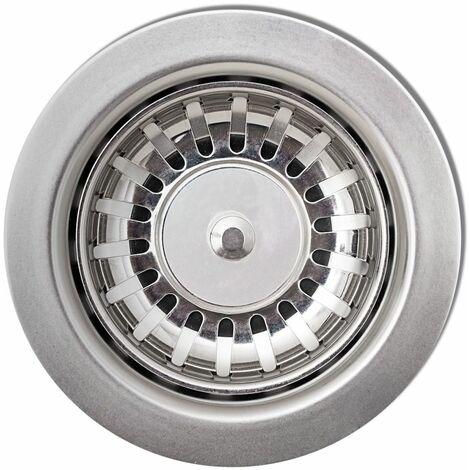 Hommoo Overmount Kitchen Sink Single Basin Granite Grey QAH04095