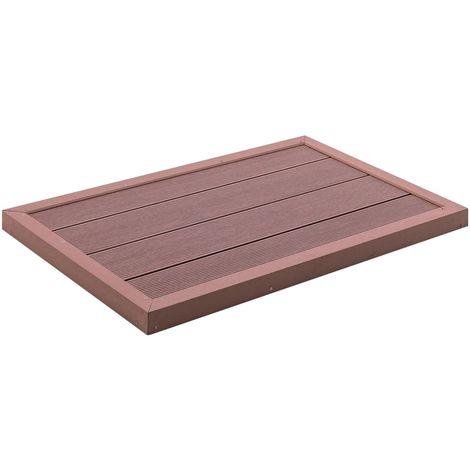 Hommoo Panel de suelo para ducha solar WPC marrón 101x63x5,5 cm