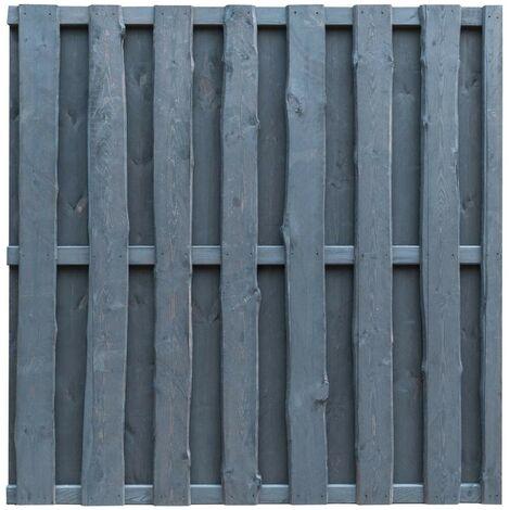Hommoo Panel de valla de jardín madera de pino 180x180 cm gris